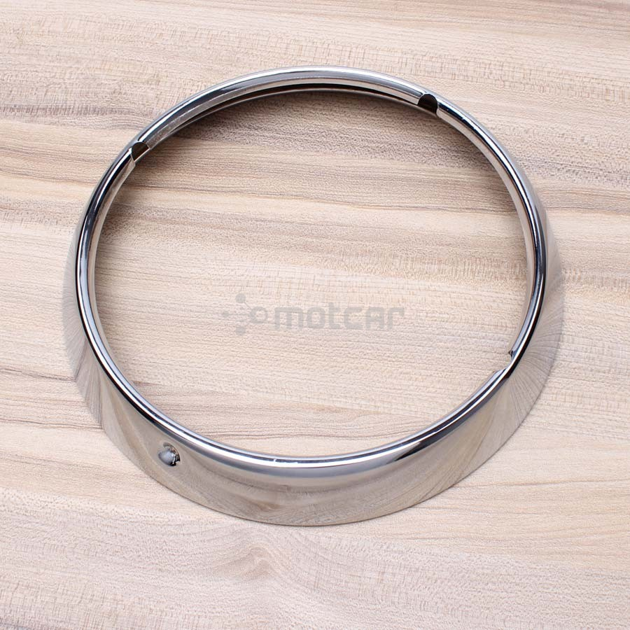 """7/"""" Inch Aluminum Headlight Trim Ring Cover For Harley Touring Road King Chrome"""