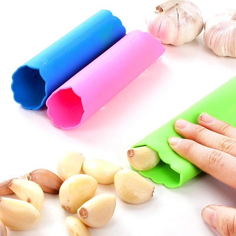 Best Useful Kitchen Tool Magic Silicone Garlic Peeler Peel Easy Random Color
