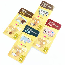 1pcs/lot Four Selections African Animal With Pen Bookmark  Mini Set Office School Stationery