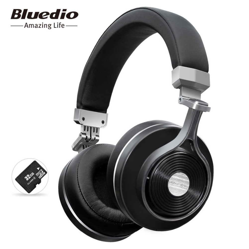 Bluedio t3 plus wireless bluetooth auriculares/auriculares con micrófono/ranura