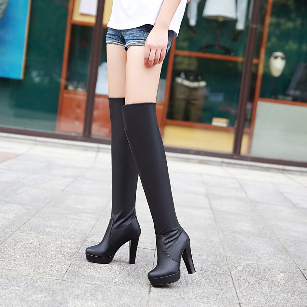 Tight Thigh High Boots - Cr Boot