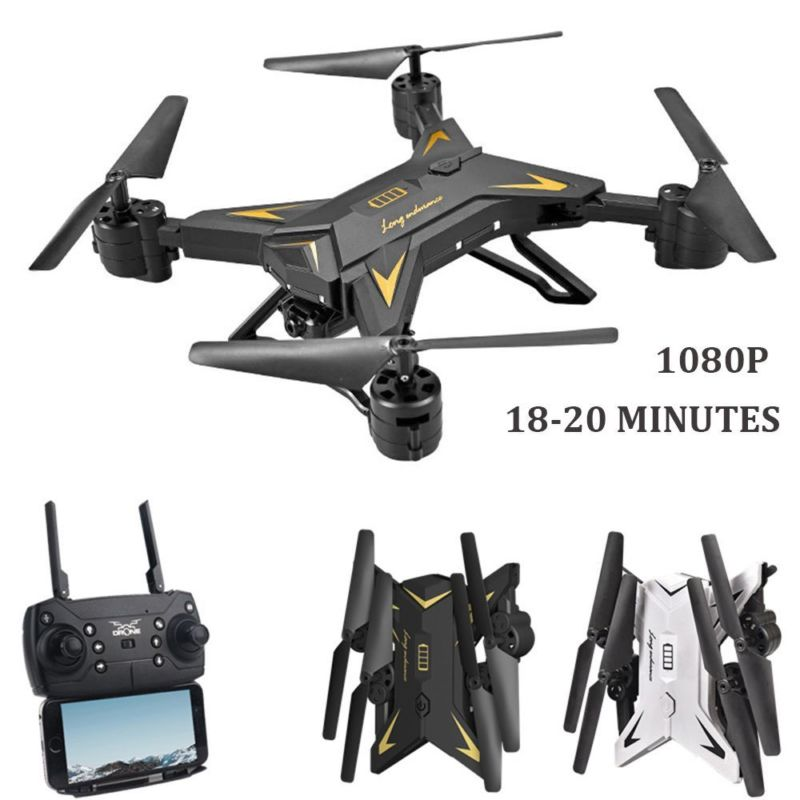 KY601S RC Helicopter Drone with Camera HD 1080P WIFI FPV Selfie Drone Professional Foldable Quadcopter 20 Minutes Battery Life
