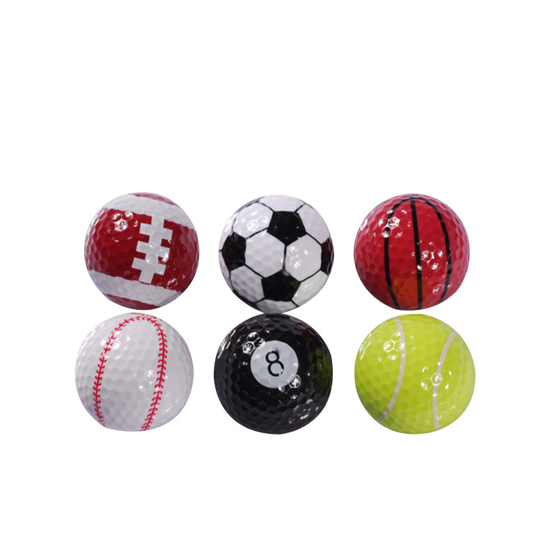6PCs Novelty Colorful Sports Golf Balls Ball Golf Game Indoor Outdoor Training Gift