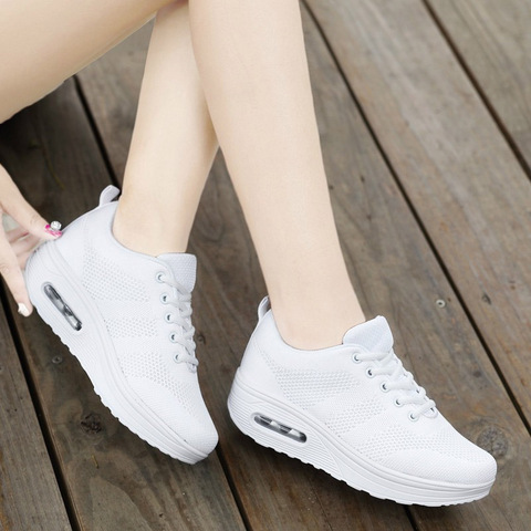 VTOTA Women Wedges Shoes Mesh Breathable White Shoes Fashion Spring Summer Women Chunky Sneakers zapatillas mujer Casual Shoes L Islamabad
