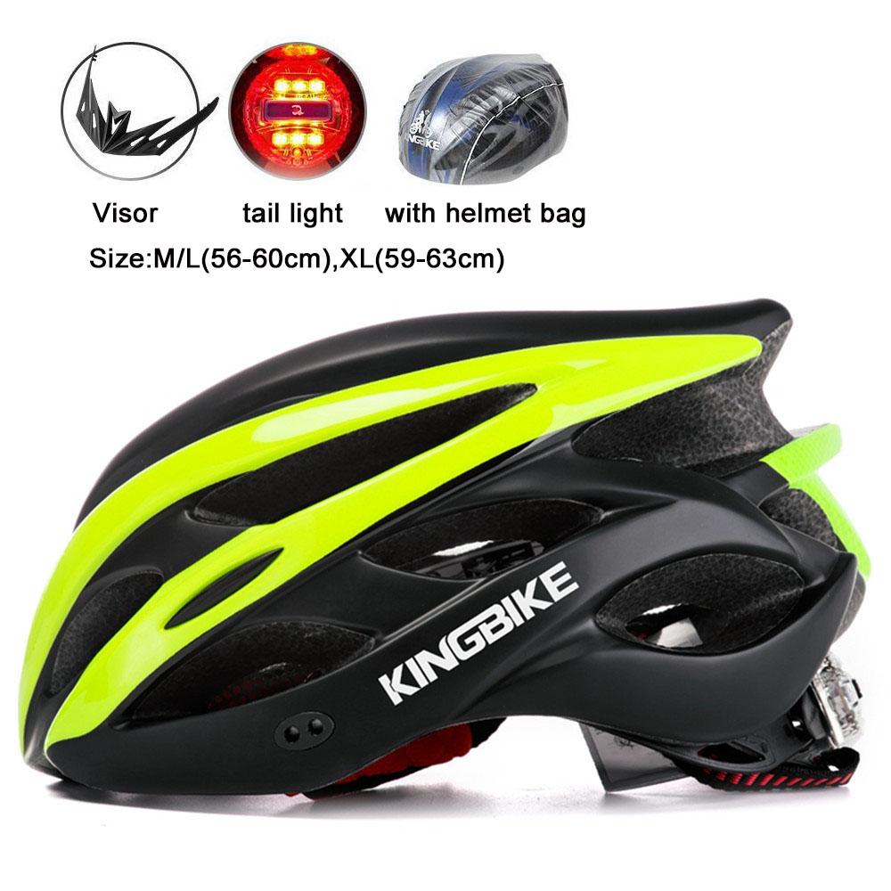 Us 17 29 39 Off Kingbike Light Helmet Bike Women Men Mtb Helmet Kask Helmet Casco Bicicleta Hombre Casque Velo Size M L 56 60cm Xl 59 63cm In