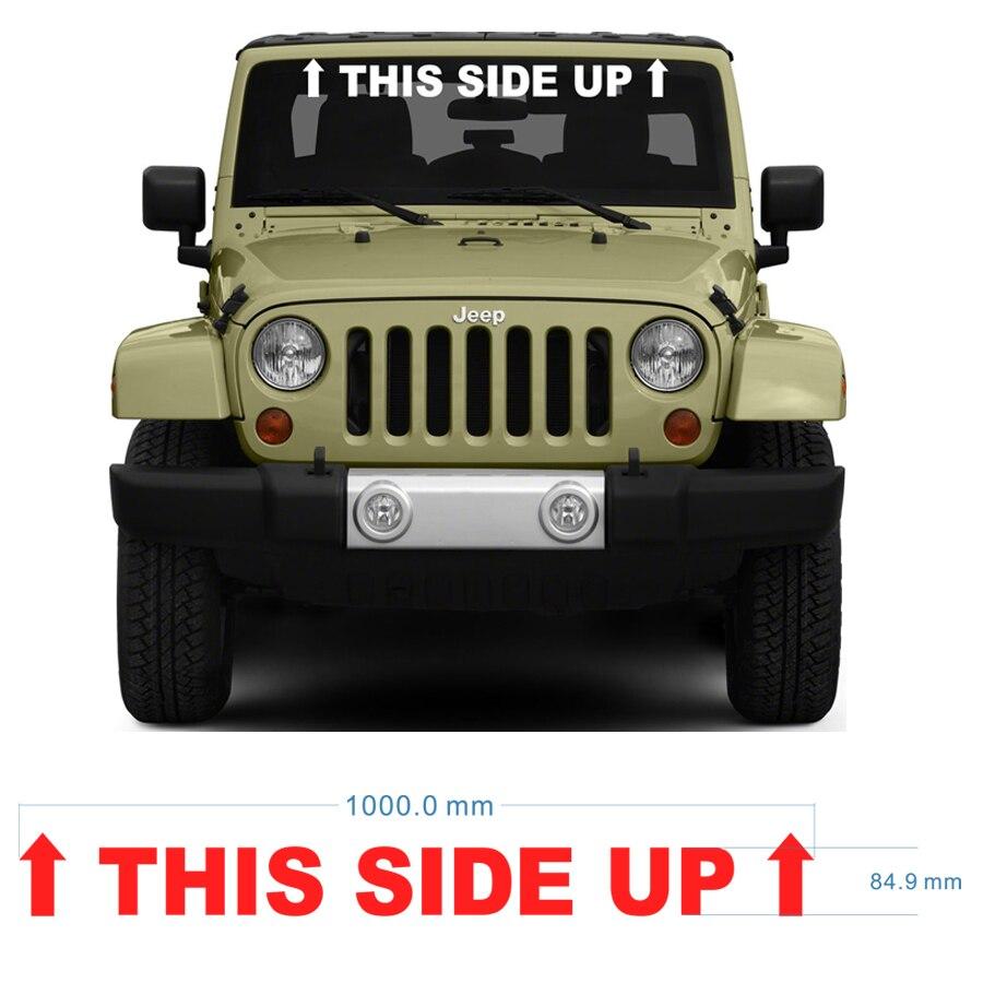 free shipping 1PC THIS SIDE UP graphic Vinyl sticker for 4x4 truck pickup windshield window sticker sticker