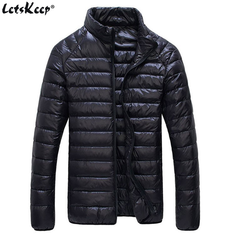 LetsKeep M-6XL Winter White Duck   Down   Jacket Men Ultralight Outerwear Warm   Coat   Men's thin Duck   Down   Parkas Plus size, MA542