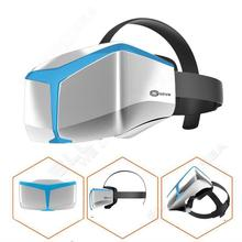 จัดส่งฟรี! UCVR 3D VRแว่นตาชุดหูฟังความเป็นจริงเสมือนแว่นตากล่องสำหรับI Phoneแซมซุงสีฟ้า