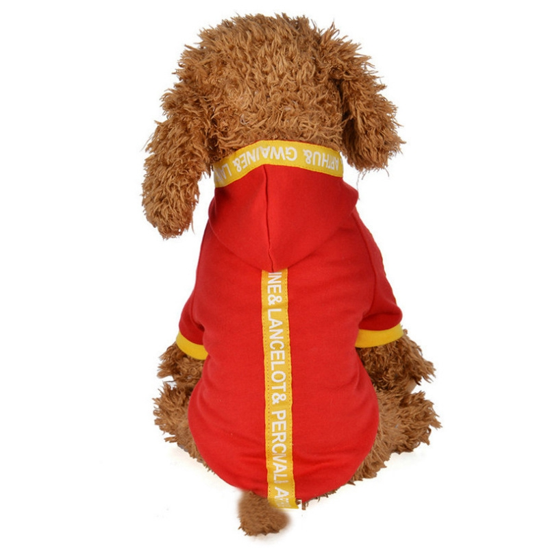 2019 Spring Pet Dog Clothes 100 Cotton Four legs Hoodies Outfit For Small Dogs Chihuahua Pug Sweater Clothing Puppy Coat Jacket in Dog Coats Jackets from Home Garden
