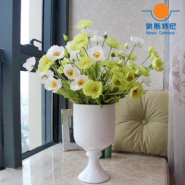 5pcs artificial flower bouquets green color artificial corn poppy 5pcs artificial flower bouquets green color artificial corn poppy flowers bouquetspapaver rhoeascoquelicot bunches mightylinksfo