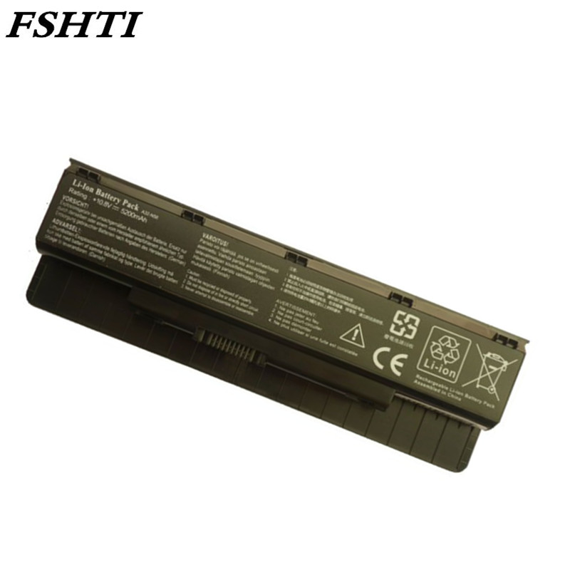 High Quality  5200mAh New A32-N56 Battery For ASUS N46 N46V N46VJ N46VM N46VZ N56 N56V N56VJ N56VM N76 N76VZ A31-N56 A33-N56