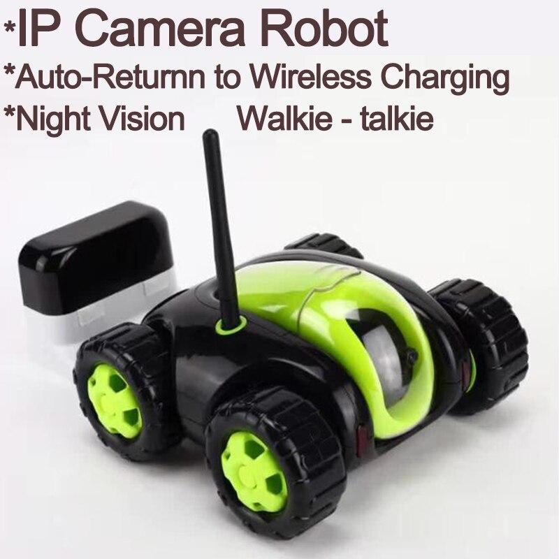 Новый RC автомобиль с камера 4CH Wi Fi Танк облако Rover портативная ip камера бытовая техника ИК long range одна кнопка дома FSWB