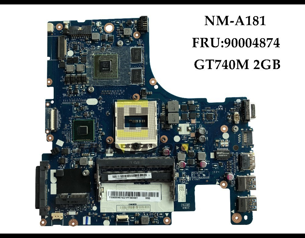 High quality 90004874 FOR Lenovo Ideapad Z510 Laptop Motherboard AILZA NM A181 HM86 PGA947 DDR3 GT740M