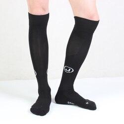 Высококачественные брендовые нескользящие носки для ног Soc cer Мужские Классные хлопковые черные носки Calcetines hombre мужские носки до колена бол...
