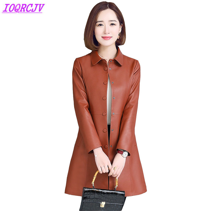 Sheep leather jackets women 2018 spring autumn high quality Windbreaker coat Plus size 5 ...