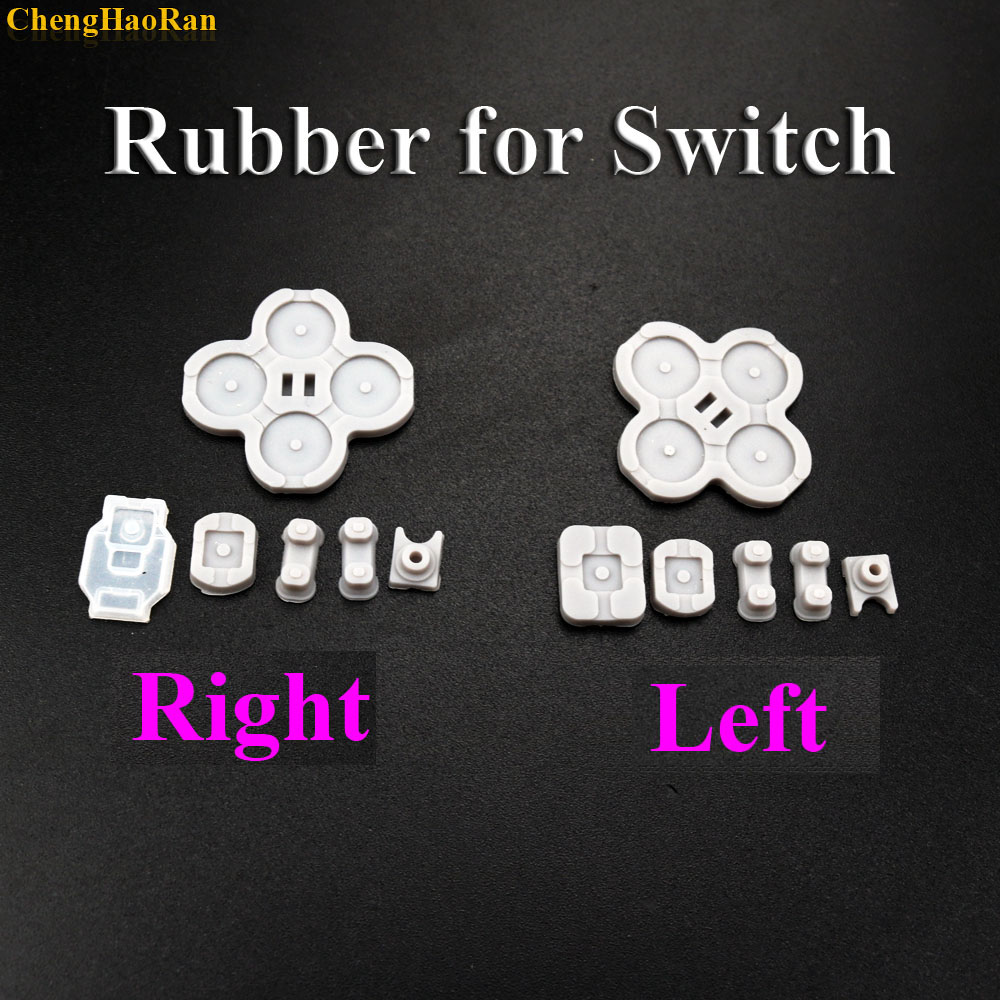1set Left and Right For NS Nintendo Switch Joy Con Silicone Start Select Keypad Rubber Conductive Buttons A B D pad-in Replacement Parts & Accessories from Consumer Electronics