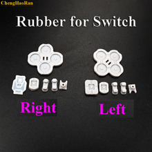 1set Left and Right For NS Nintendo Switch Joy-Con Silicone Start Select Keypad Rubber Conductive Buttons A-B D-pad цена и фото