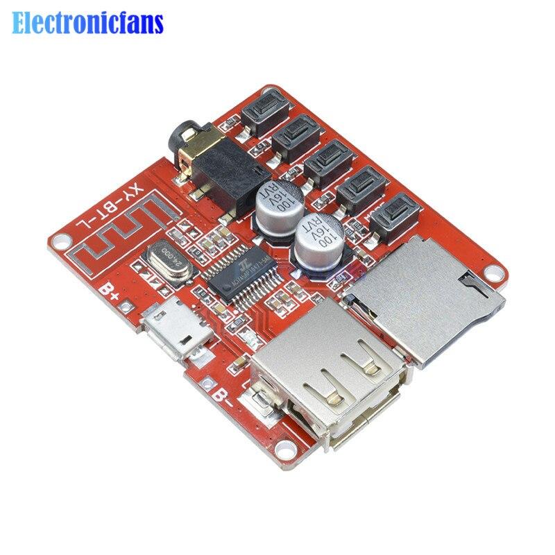 Mini reproductor MP3 3.7-5V Bluetooth 4.1 sin pérdida decodificador Board Micro USB TF tarjeta SD