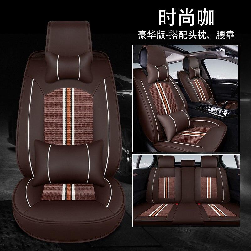 Housse de siège auto en cuir synthétique polyuréthane universelle couvre sièges auto pour Chevrolet captiva chevy cruze equinox lacetti malibu sonic spin trax 2