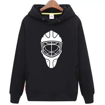 Fajne hokej na lodzie darmowa wysyłka tanie młodzieży czarny hokej na lodzie bluza z kapturem z hokeja na lodzie wzór maski tanie i dobre opinie Chłopcy Flexible Pasuje mniejszy niż zwykle proszę sprawdzić ten sklep jest dobór informacji cool hockey