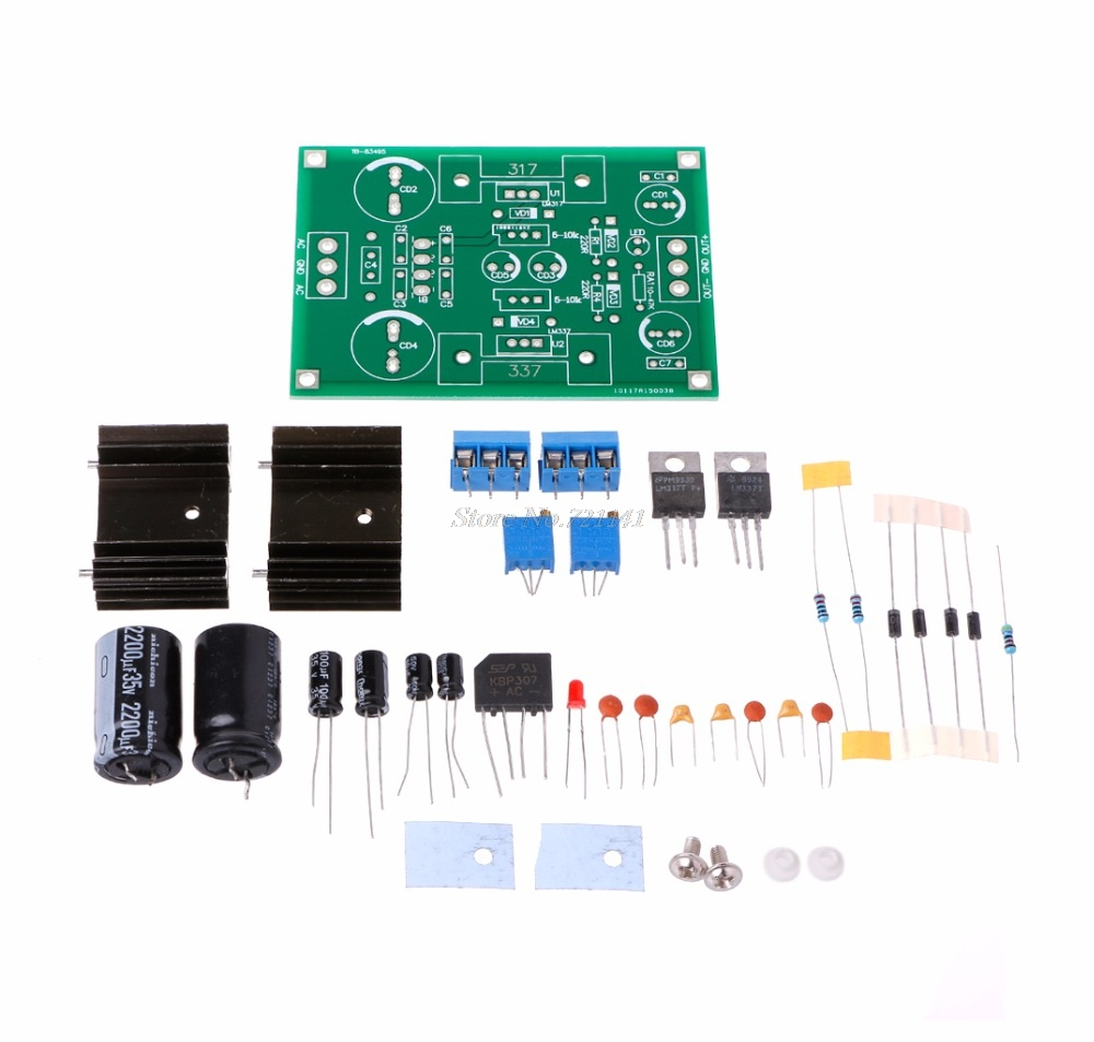 Lm317 Lm337 Ac Dc Linear Filter Voltage Regulator Adjustable Power Negative Output Integrated Circuit 2 Supply Kits In Circuits From Electronic Components Supplies On