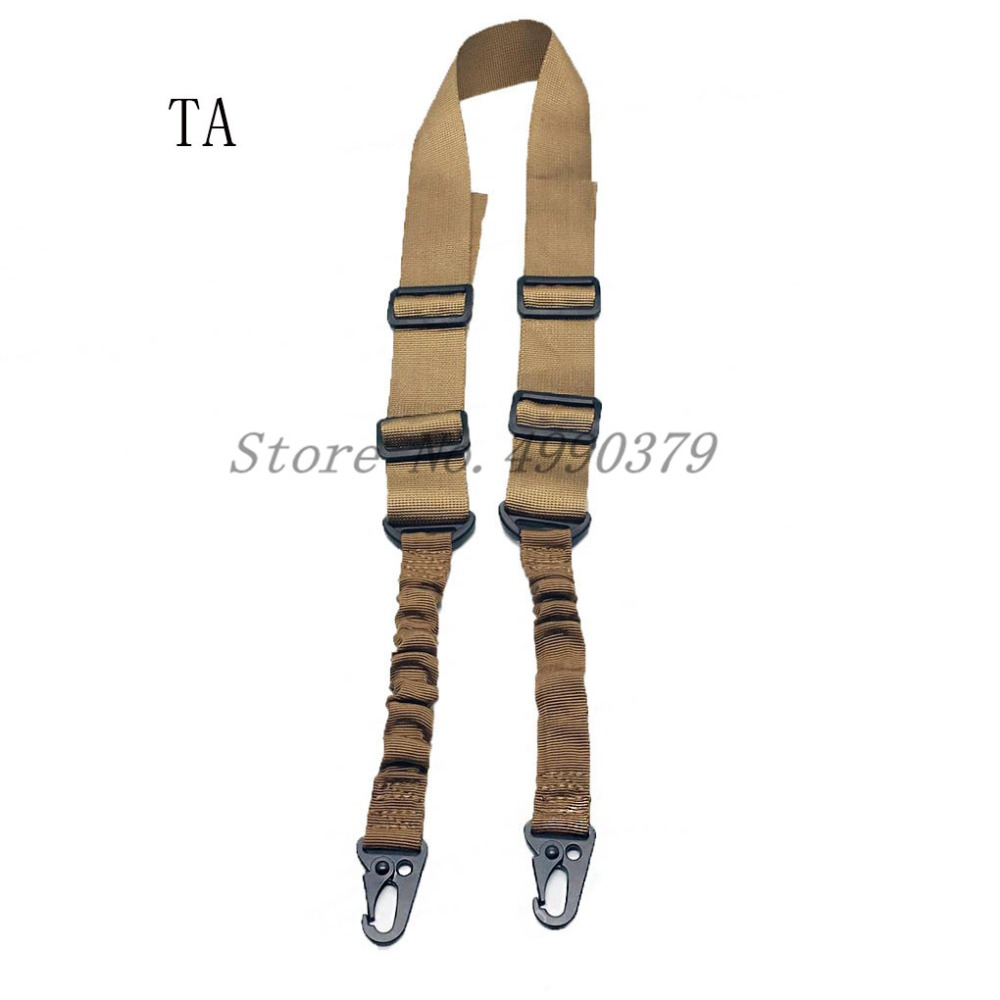 Image 3 - Mayitr Military Heavy Duty Gun Belt Strap Tactical 2 Points Nylon Bungee Rifle Sling Outdoor Gun Accessories-in Hunting Gun Accessories from Sports & Entertainment