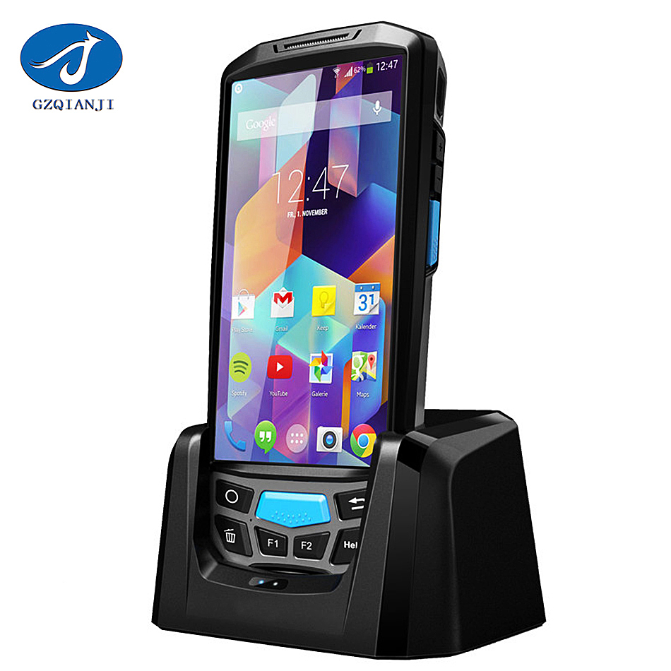 PDA Android 5 inch 4 G industrial handheld computer 2d barcode scanner qr code scanner pda wifi terminal with free SDK service