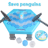 Funny 22CM Ice Breaking Save The Penguin Family Fun Game Toys Kit Parent-child Table Entertainment Toys Gifts for Kids children