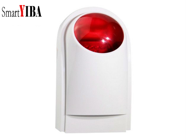 SmartYIBA G90B Plus Wireless Outdoor Siren Flashing Red Light Strobe Siren For Home Security Alarm System 110dB