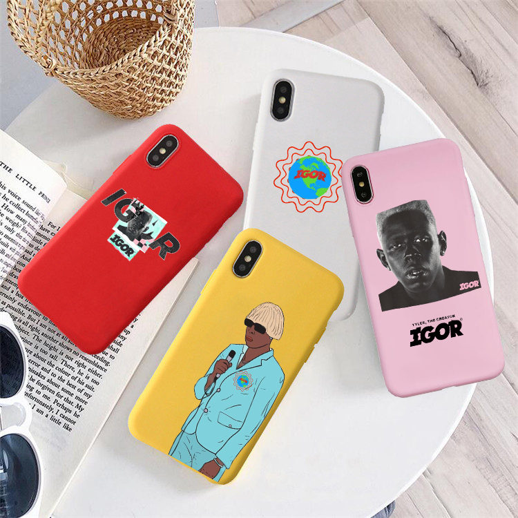 Tyler, The Creator-IGOR Colored Soft Silicone Phone Case For Iphone 6 6s 6plus 7 7