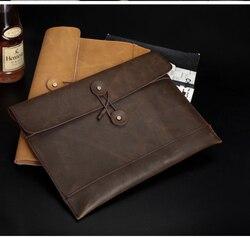 A4, garantía de cuero genuino, carpeta de archivos de conferencia, bolsa de documentos, maletín, portafolio 5022B