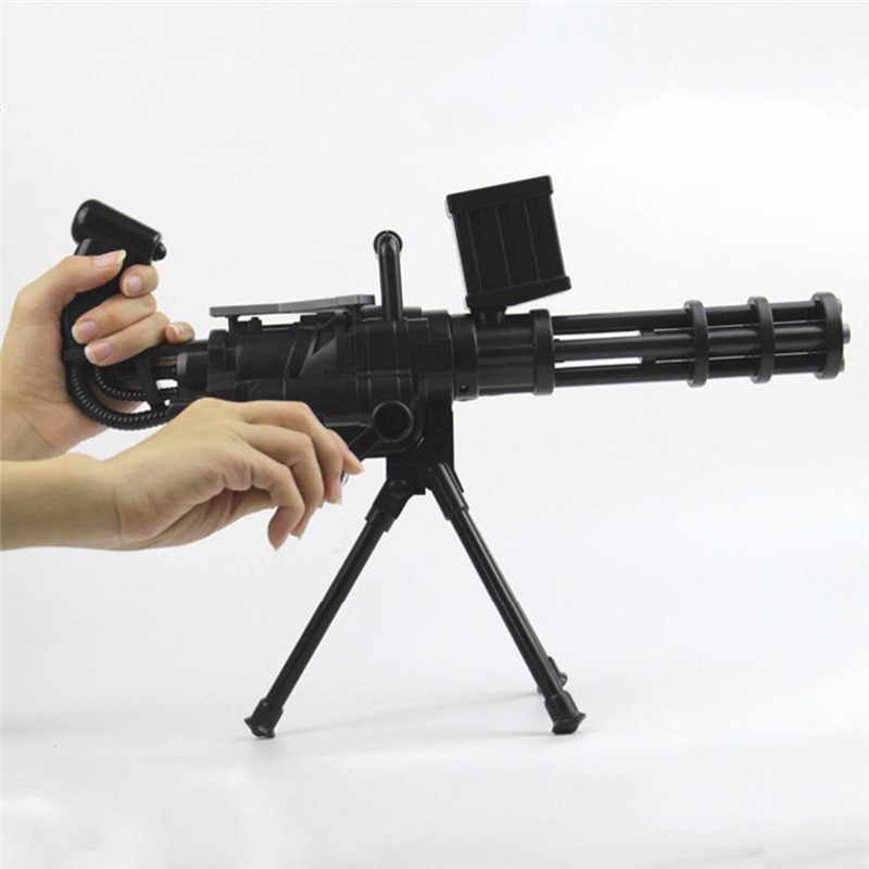 MrY Armas de Brinquedo para Crianças Pistola de Água Crianças de Cristal Macio para Arma Gatling Arma Bala Mole Arma de Brinquedo Brinquedos de Plástico