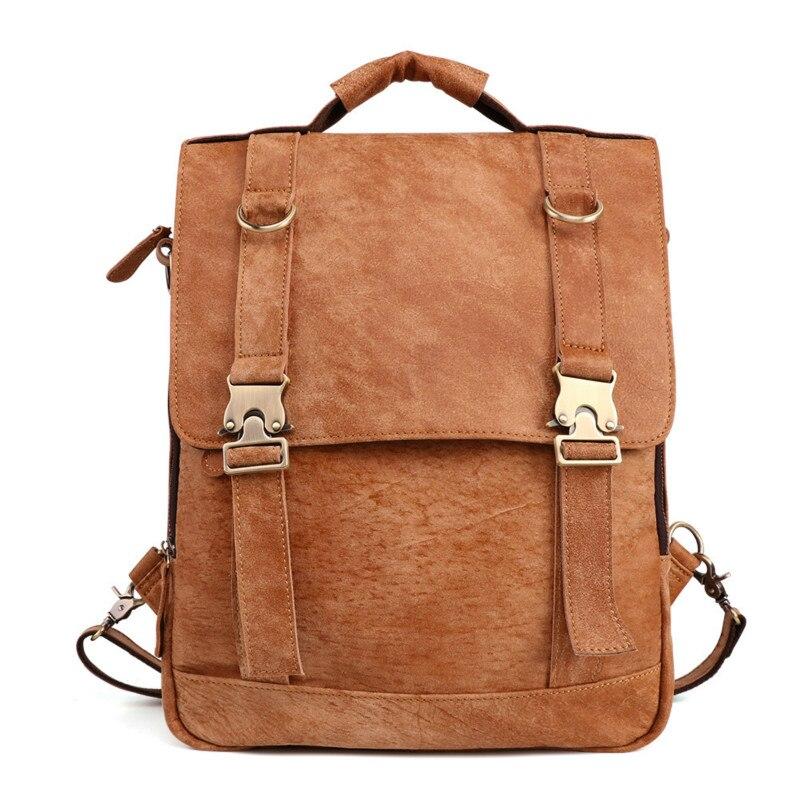 2019 Chaud! Femmes mode sac à dos homme voyage sac à dos mochilas école hommes en cuir sac d'affaires grand ordinateur portable shopping sac de voyage