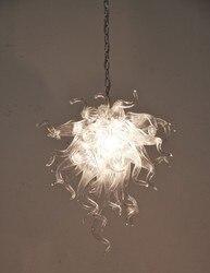 Wspaniałe sztuki dekoracji ręcznie dmuchane szkło bezbarwne żyrandol światło dla domu