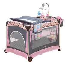 Baby Bed Multifunctional Portable Crib For Kids Light-weight Folding Game Beds Baby Cradle Infant Playpen Size 110*76cm(China)