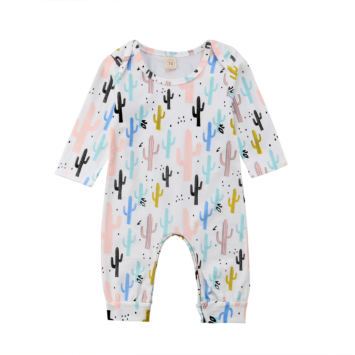 Emmababy Infant Newborn Baby Boy Girl Long Sleeve Cactus   Romper   Jumpsuit Outfits Baby Clothes 0-24M