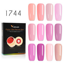 12pcs/lot Venalisa 5ml Painting Gel Kits Soak Off UV LED Fast Dry Drawing Pure Color for Nail Salon Teaching Lacquer
