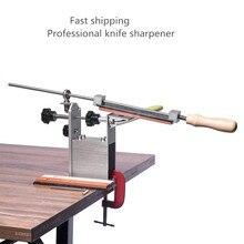5 דור מקצועי פרו קודקוד קצה מטבח סכין מחדד מערכת עם 3pcs אבן משחזת + אלומיניום סגסוגת + G קליפ