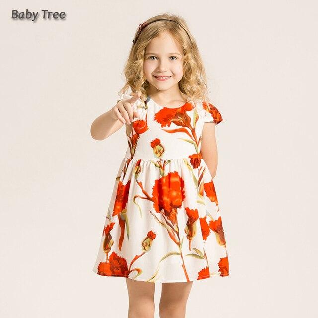 2 12T Little Girls Floral Dress Summer Sleeve Carnation ...