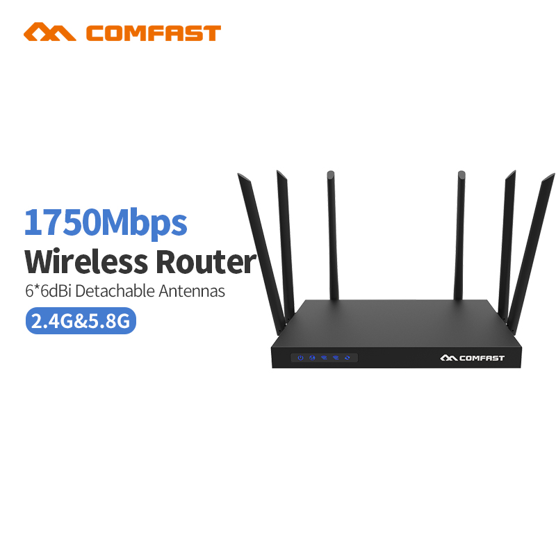 Comfast CF-WR650AC 2.4GHz / 5.8GHz 1750Mbps 802.ac gigab 11AC Wireless Router Dual Band WiFi Repeater Network Signal Amplifier автомобильный видеорегистратор oem c600 dvr 12 hd 1920 1080p 120 1 5 lcd g