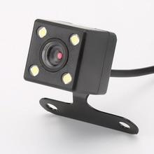 4 luces LED cámara de visión trasera de coche HD cámara de visión trasera de coche visión nocturna cámara de aparcamiento de coche cámara de respaldo