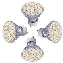 4 X GU10 Ampoule Lampe Spot 3528 SMD 80 LEDs Blanc Chaud 3600K AC 230V 5W