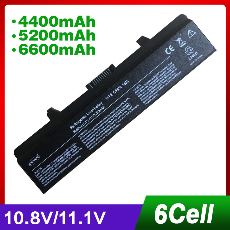 11.1V laptop battery for DELL 1545 1546 D608H GW240 HP297 RU573 RU583 RU586 RW240 RN873 X284G XR693 M911G P505M UK716 Price $32.04