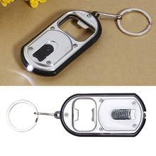 1Pcs Multifunctional Creative LED Light Flashlight Torch Mini Outdoor Keychain Key Ring Wine Bottle Opener(China)