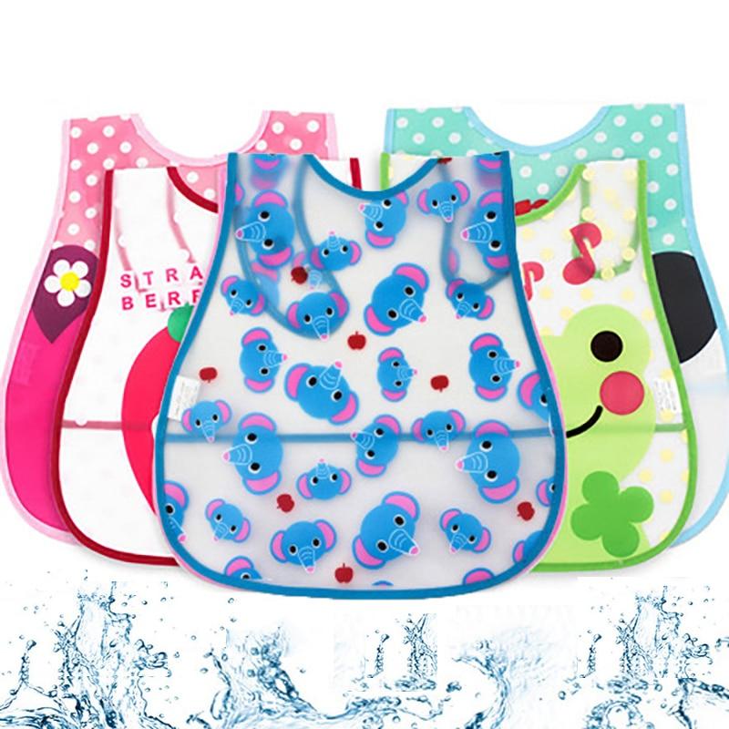 Ideacherry Baby Bibs EVA Cute Cartoon Muli-pattern Waterproof Saliva Towels For 0-3 Years Old Newborn Infant Feeding Burp Cloths