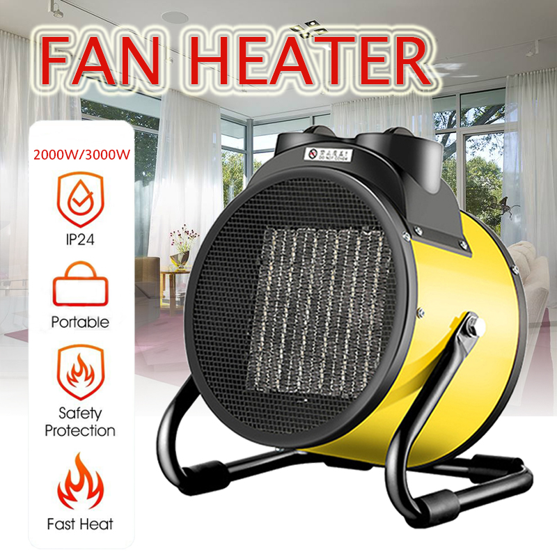 2000 W/3000 W Portable en céramique espace radiateurs électriques haute puissance réchauffeur d'air en céramique ventilateur plus chaud pour l'industrie ménage salle de bains