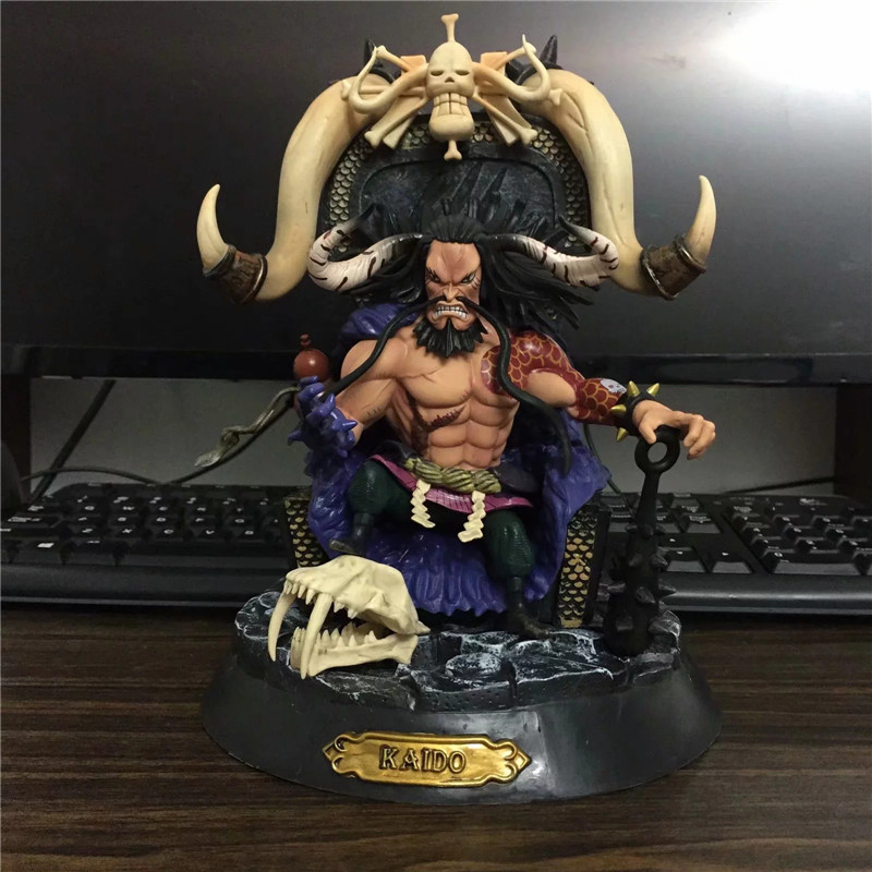 23cm Anime One Piece figure One of the four kings Kaido PVC action figure collection model toy overbearing arrogance law anime one piece pvc action figure classic collection model garage kit doll toy