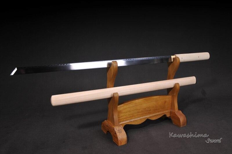 Katana samouraï japonais fait à la main 1095 acier argile tempérer vrai Hamon pleine Tang Ronin épée lame droite Shirasaya netteté-in Épées from Maison & Animalerie    2