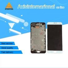 """5.7 için """"Meizu Pro 5 pro5 Axisinternational LCD ekran Ekran + Dokunmatik panel Sayısallaştırıcı çerçeve ile Siyah/Beyaz ücretsiz kargo"""