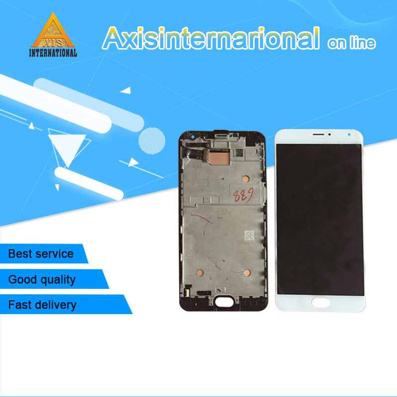 Axisinternational LCD Screen Display Touch Panel Digitizer With Frame For 5 7 Meizu Pro 5 Pro5